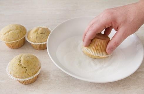 Il confezionamento dei muffin confettura di fichi