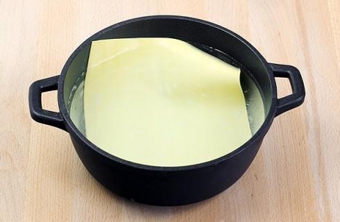 La sfoglia per le lasagne ai carciofi