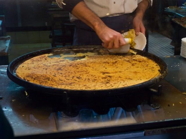 Farinata in cottura
