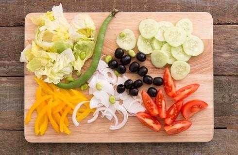 Gli ortaggi dell'insalata nizzarda