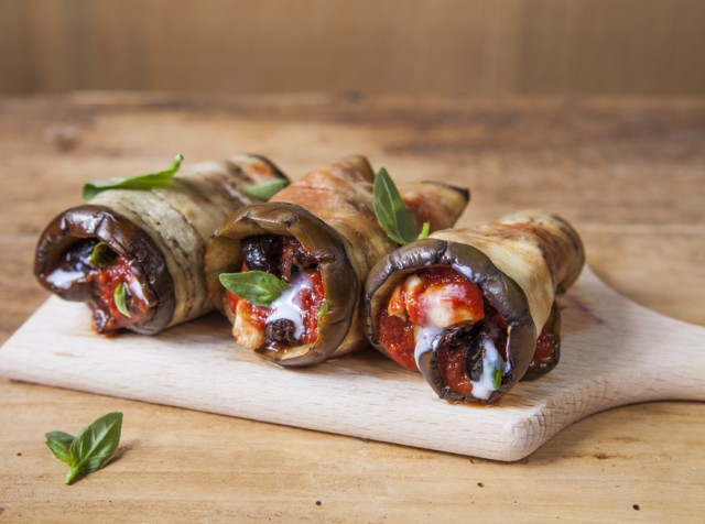 Involtini di melanzane al forno agrodolce for Ricette secondo