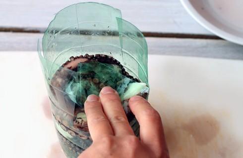 Il carpaccio di polpo in bottiglia