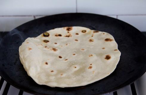 La cottura della tortilla