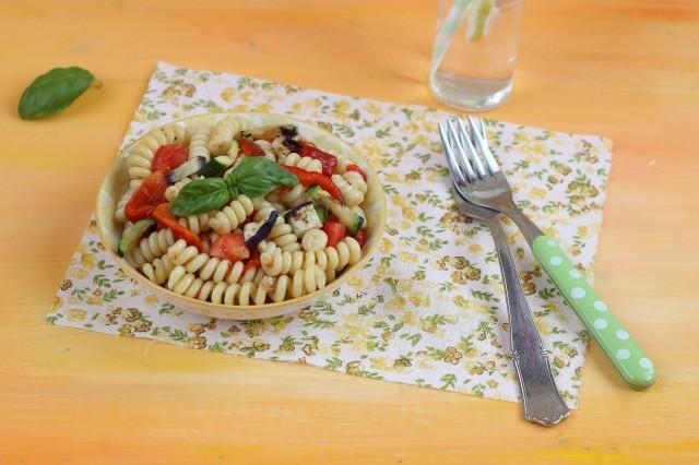 La pasta fredda vegetariana