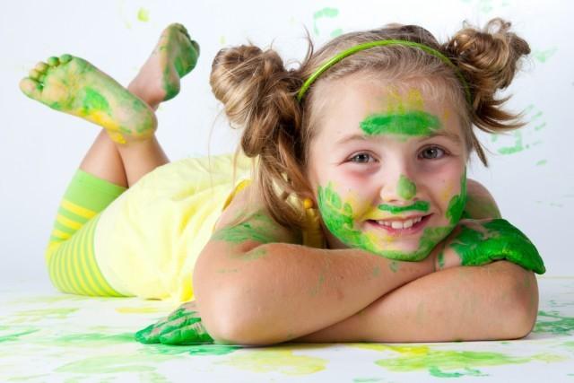 bambina dipinta