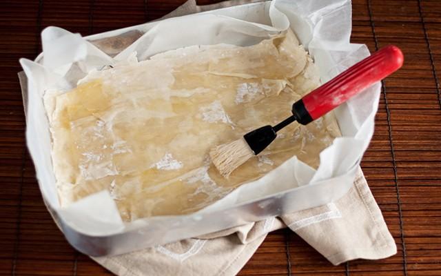 La preparazione della baklava