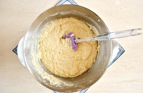 L'impasto della torta cocco e nutella