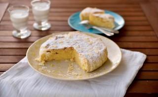 Torta greca con pasta sfoglia e mandorle