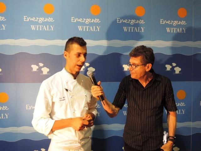 Alessandro Buffolino, de La Terrazza dell'Eden (Rm) intervistato da Luigi Cremona dopo essere passato in finale.