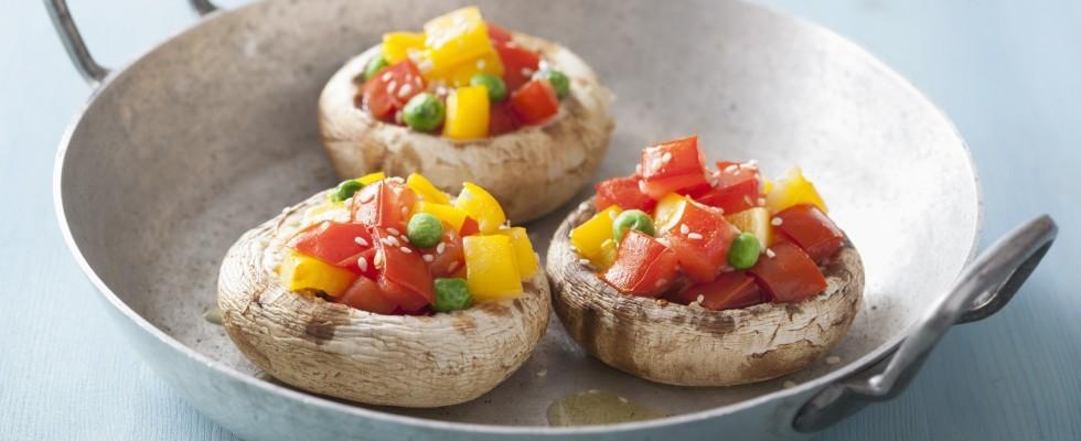 Funghi ripieni: trionfo di verdure