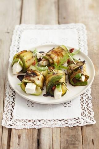 Involtini di zucchine vegetariani