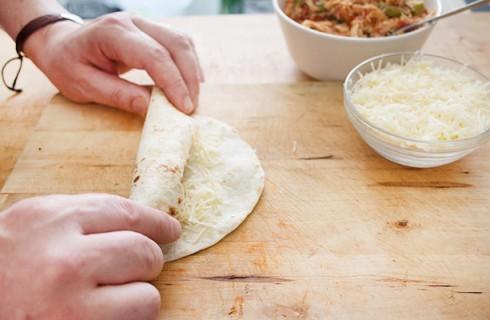 La preparazione dei burritos