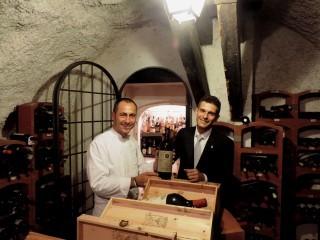 La bottiglia del ristorante Imàgo per Taste of Roma