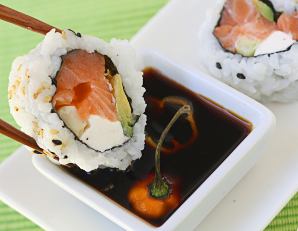 Dipping-sushi-in-habanero-soy-sauce