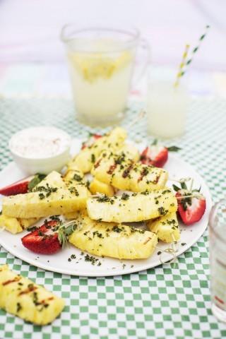 Ananas grigliato alla menta: rinfrescante e gustoso