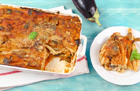 Pasta al forno con melanzane: ricetta vegetariana
