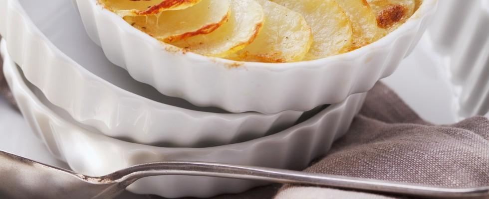 Patate gratinate con panna