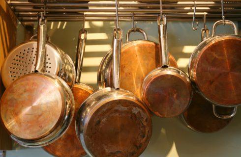 Le pentole di rame in cucina: consigli per l'uso e la pulizia