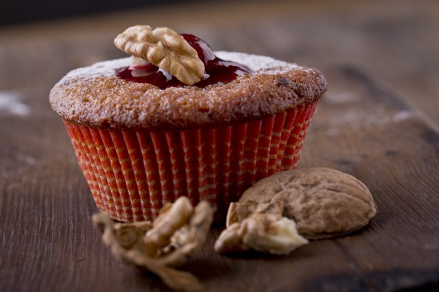 Muffin with jam