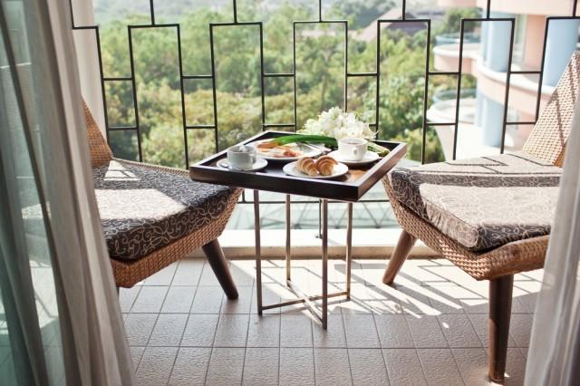 mangiare in balcone