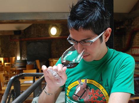 annusare il vino