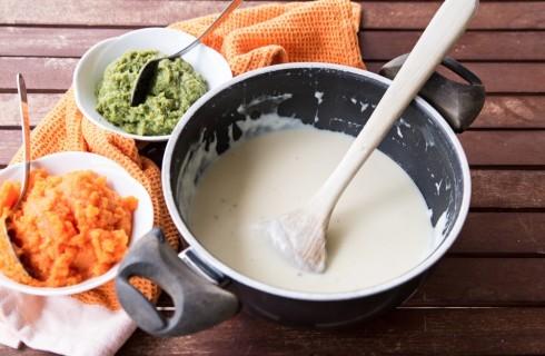 La preparazione del flan di verdure