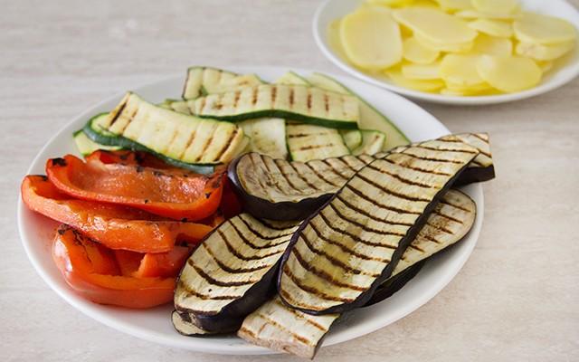 Le verdure grigliate per il tortino