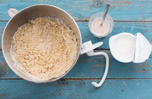 L'impasto delle brioche allo yogurt
