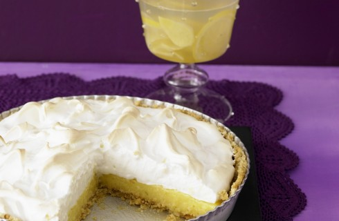 Key lime pie meringata