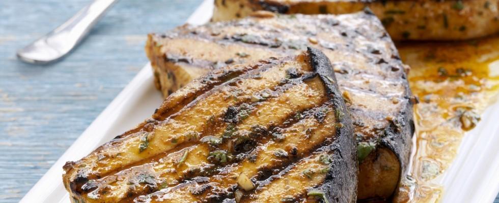 Pesce spada marinato alla griglia