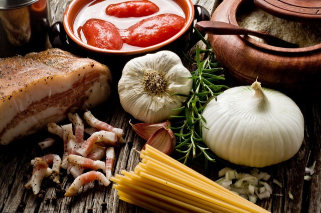 ingredienti per l'amatriciana