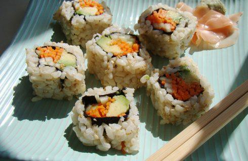 Il sushi vegetariano con la ricetta gustosa ma light