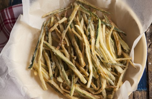 Zucchine fritte a bastoncino
