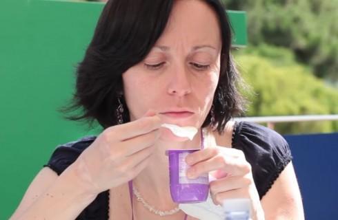 La degustazione di yogurt Danone
