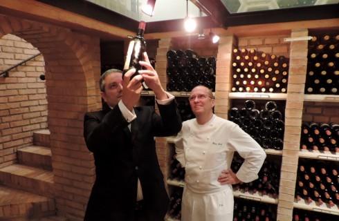 La bottiglia del ristorante La Pergola per Taste of Roma