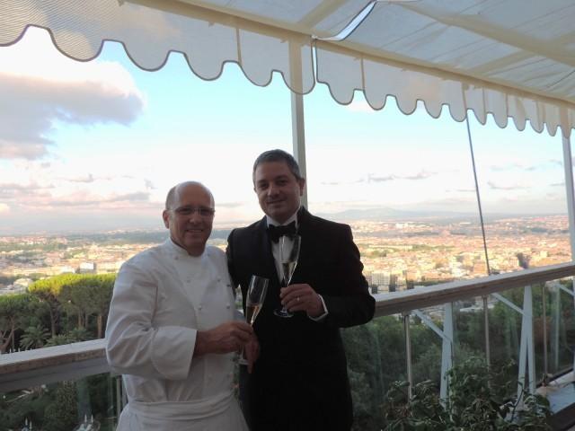 Lo chef Heinz Beck con il sommelier Marco Reitano