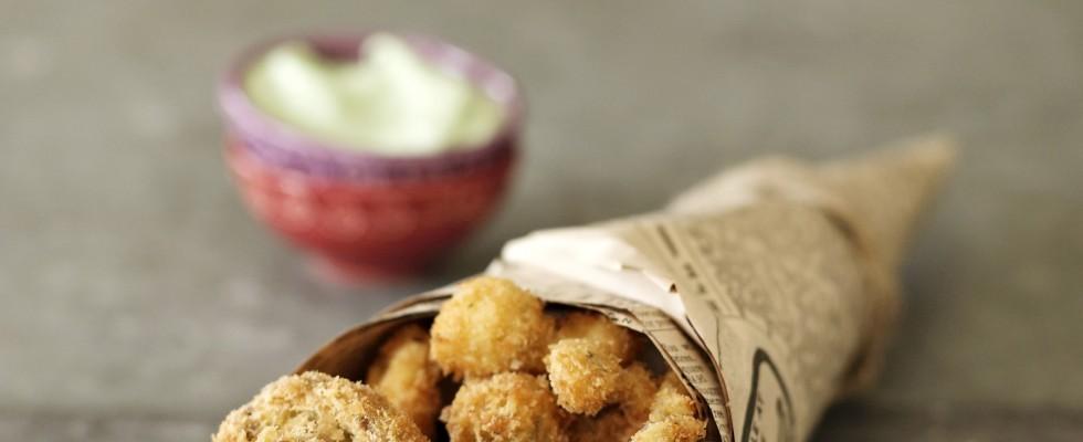 Funghi fritti croccanti