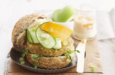 Hamburger di lenticchie vegan