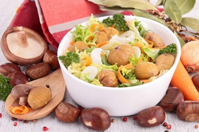 insalata con castagne