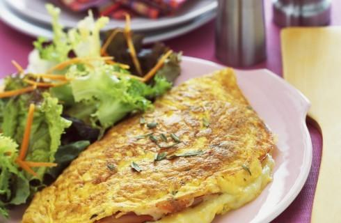 Omelette al prosciutto cotto