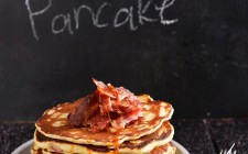 Pancake salati con bacon