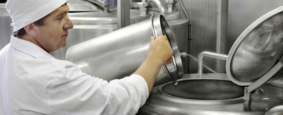 La produzione industriale dello yogurt