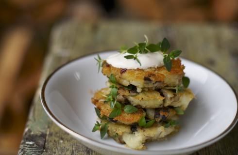Il tortino di patate e funghi
