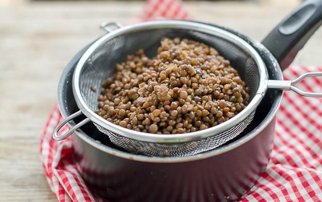 Crostini di polenta - le lenticchie