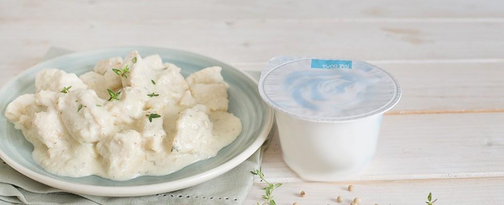 Pollo allo yogurt