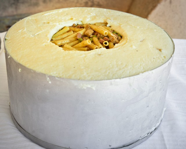 Timballo in crosta di ricotta