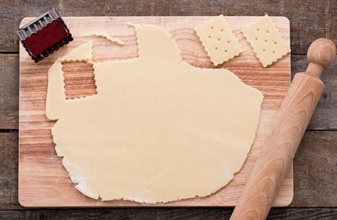 la preparazione dei biscotti senza uova