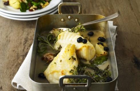 Coda di rospo al forno con olive