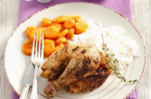 Le cosce di pollo al forno