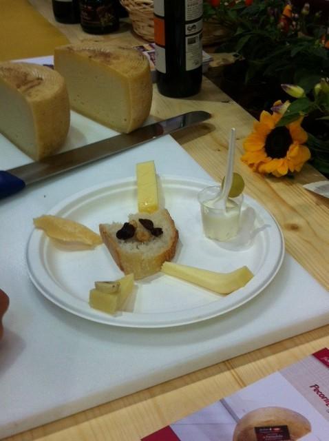 i formaggi proposti alla lezione